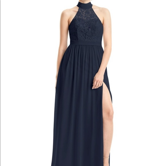 Azazie Dresses & Skirts - Dark Navy Azazie Emilia Bridesmaid Dress NWT